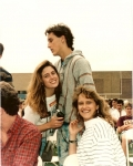 Graduation Rehearsal: Mike Little with Leanne Leveille and Denise Madura. Also in shot: Dave Mochel, and who is that beh
